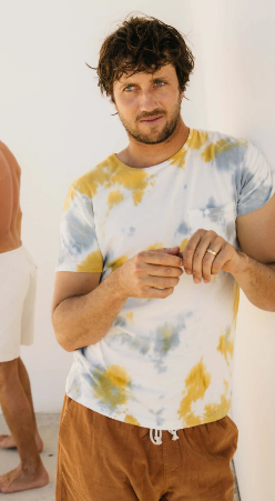 Cosmos Tee - Tye Dye Yellow and Blue