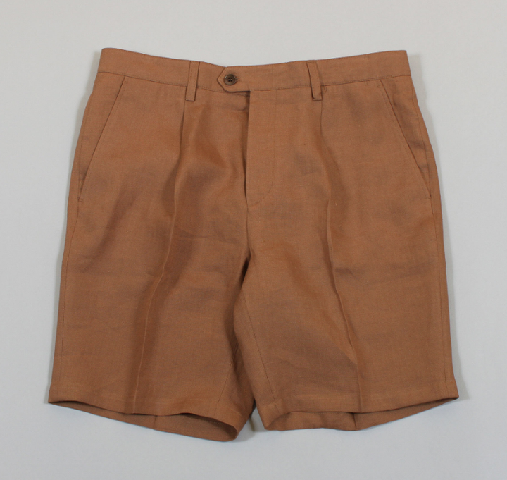 Pleat Shorts - Tobacco