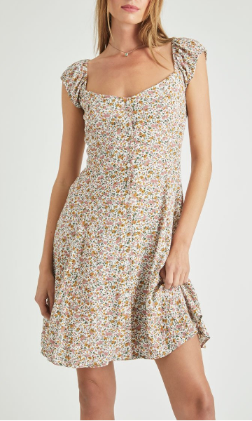 Erin Dress - White Coast Floral