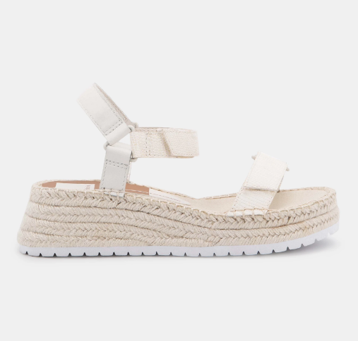 Myra Sandals - White Embossed Lizard