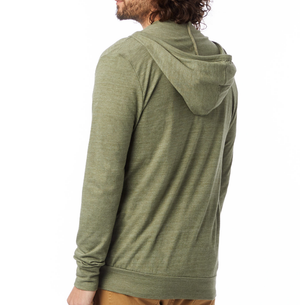 Eco Jersey Zip Hoodie - Army Green