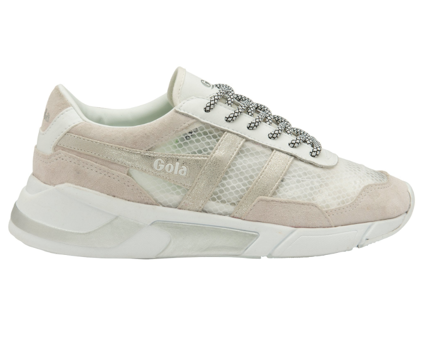 Women's Eclipse Haze Metallic Trainer - White/White/Silver