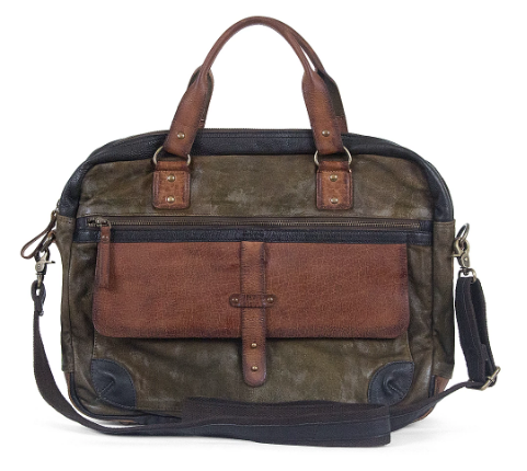 Daamen Bag - Olive/Brown