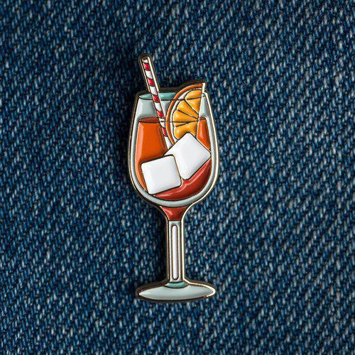 Cocktail Pin - Aperol Spritz