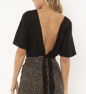 Brie Woven Top - Black