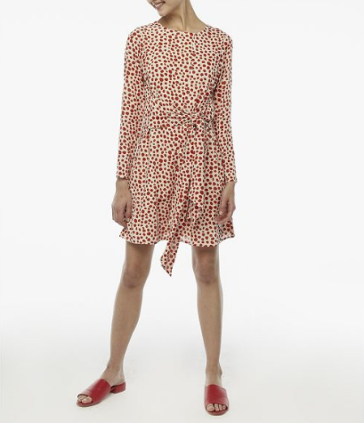 Red Spotty Dress - White/Red