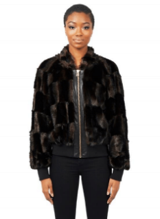 Tina Jacket - Brown Fur