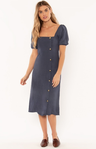 Above Deck Dress - Indigo