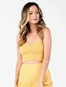 Honey Smocked Synched Front Top - Sun