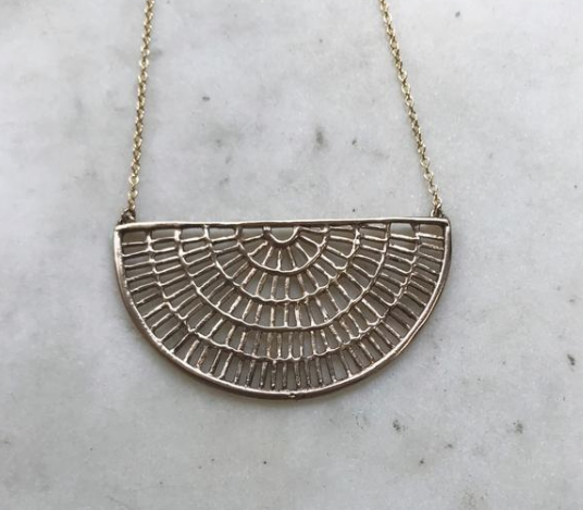 "Shimmering Sun Necklace - Bronze (18"" Gold Filled)"