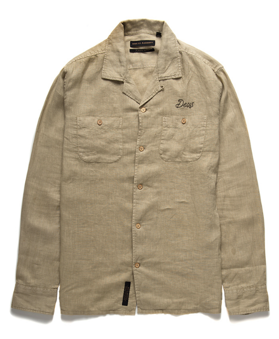 Dean Linen LS Shirt - Safari