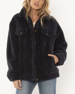 Shea Sherpa Jacket - Ink