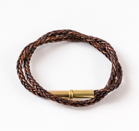 Flint Braid Bracelet - Brown
