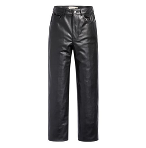 Faux Leather Ribcage Pants - Leather Night