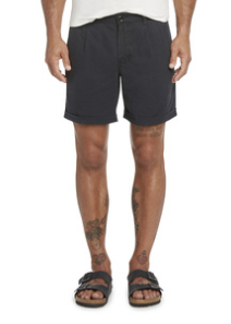Newcastle Linen Short - Black