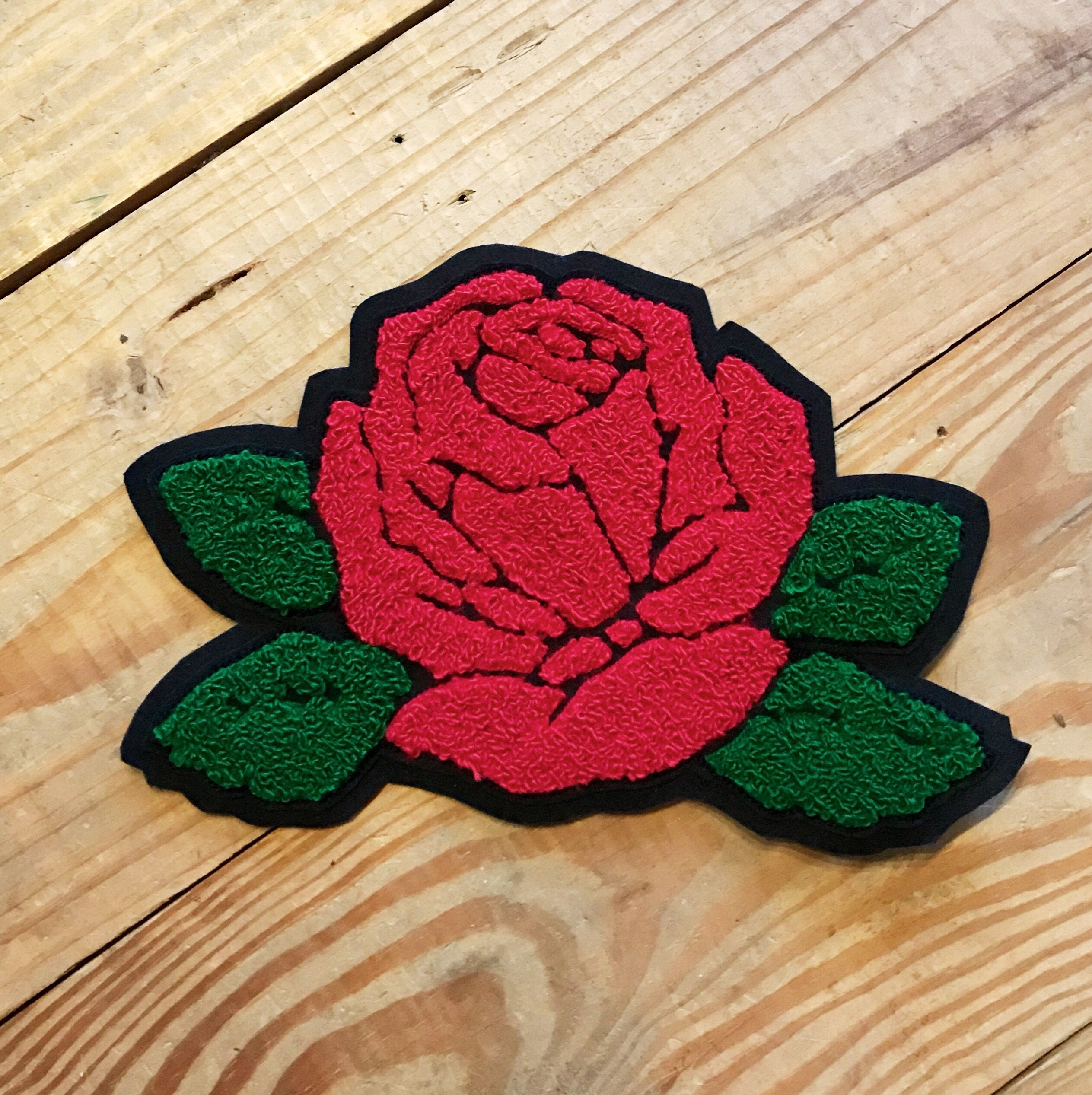 Rose Chenille Patch
