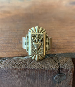 Three of Swords Ring - Brass
