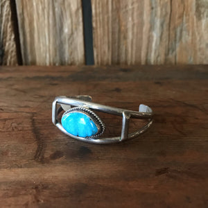 Split Band Cuff - Turquoise Oval