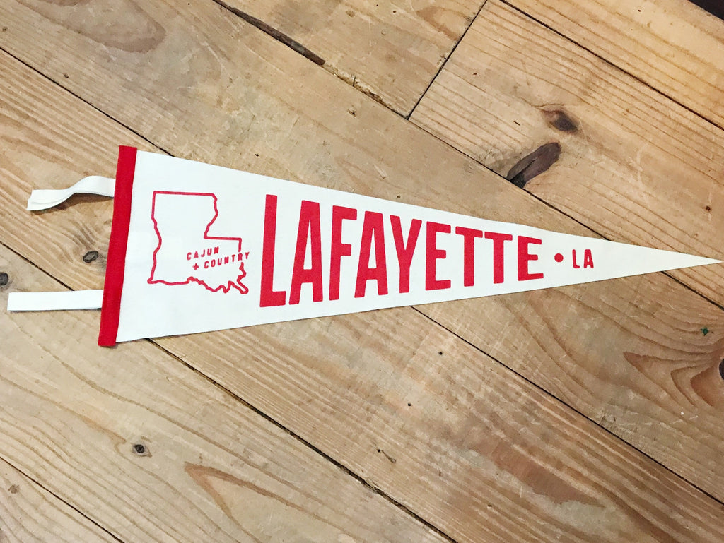 Lafayette Pennant - Cream/Red
