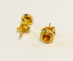 Gold Citrine Earrings