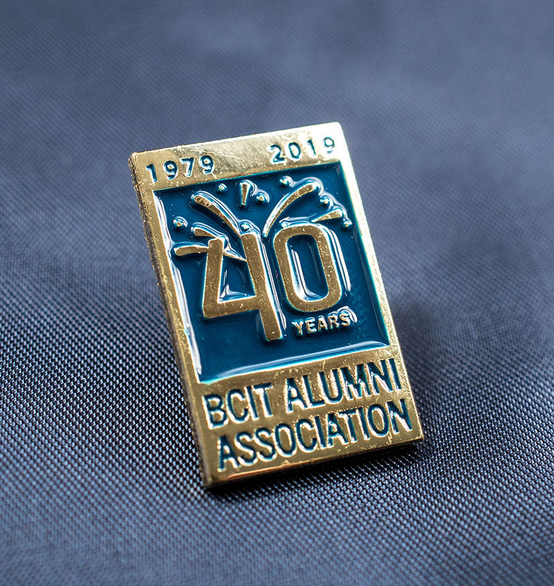 BCIT Alumni Association 40th Anniversary Pin - Gold