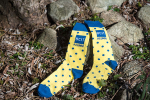Premium Woven Crew Socks - Dotted