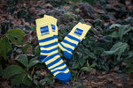 Premium Woven Crew Socks - Striped