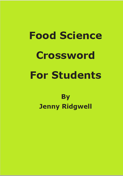 Food Science Crossword 30/3