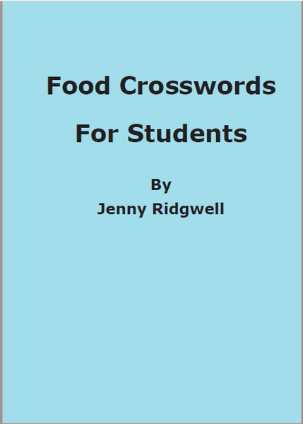 Food Crosswords for Students 28/3/20