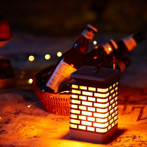 Solar-Powered Retro LED Flame Lamp