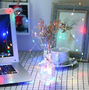 String Lights Silver Wire Firefly Starry Lights for DIY Bedroom