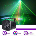 52 Patterns Colorful Rotary Sound Control Stage Light
