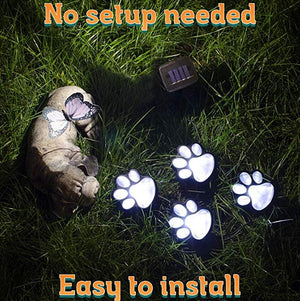 Solar Powered Paw Print Lights