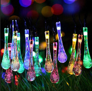 Solar Water Drop Fairy String Lights