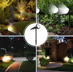 7 LED Solar Spotlight Auto Color-Changing Waterproof Outdoor Solar Lamp