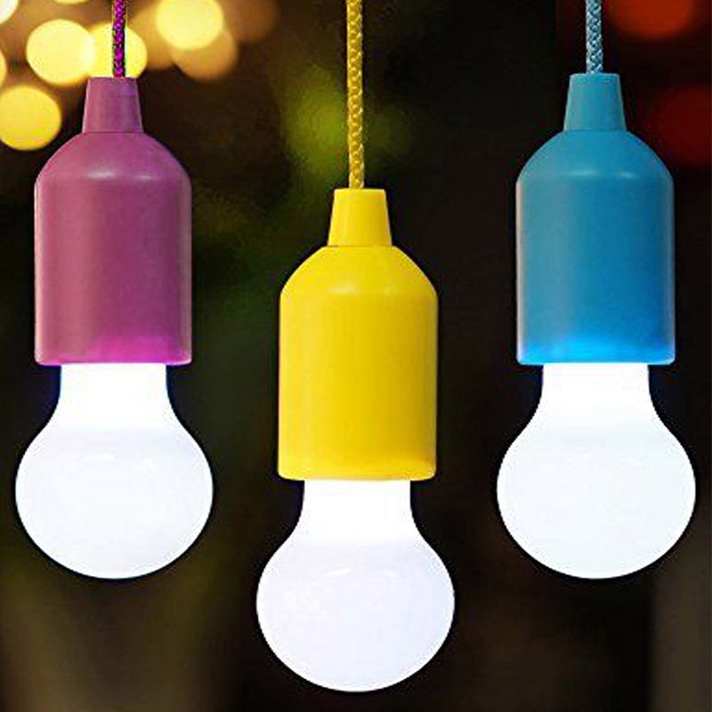 Creative Hanging Light Bulb AA Battery Powered LED  Colorful Lamp