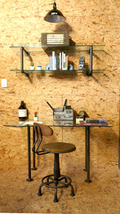 Art By Tate - The Workman Vintage Desk and Reader Shelf