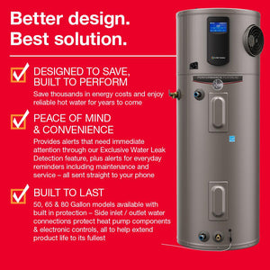 Rheem Performance Platinum 50 gal. Hybrid High Efficiency Smart Tank Electric Water Heater | One Green Solution