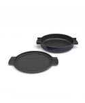 O-THP-23NV  ENAMELED CAST IRON PAN(NAVY)