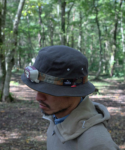 "MSC007P-OLV ""clef × milestone × PENDLETON""Sweeter Bucket Hat"