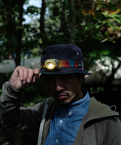"MSC007P-NVY ""clef × milestone × PENDLETON"" Sweeter Bucket Hat"