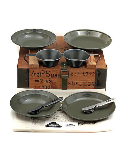"Platchamp CAMP SET "" MATTE KHAKI "" + Military Box"