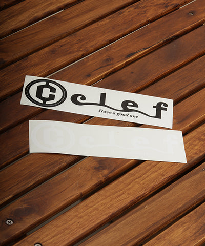 "Clef ICON & LOGO "" SURF "" STICKER"