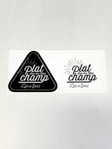 "Platchamp "" SUN "" STICKER ( Black & White )"