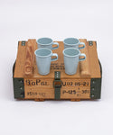 STACKING MUG 4PS SET + Military Box