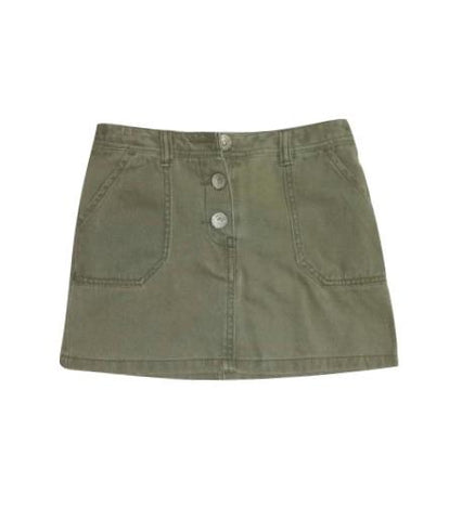 Next Olive Green Jeans Skirt