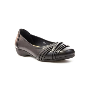 Lilley Black Cross Over Womens Ballerina / Girls School Shoes