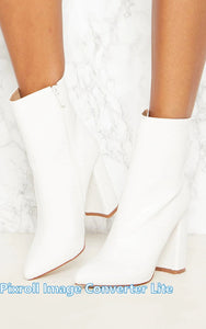 Pretty Little Thing Ladies White Ankle Boot