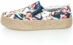 Oms! by Original Marines Girls Multicolored flatform slip-on shoes with floral pattern