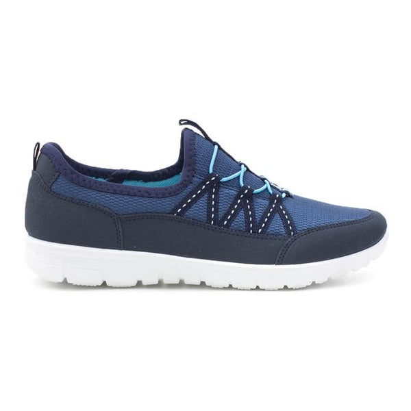 Podium Womens Navy Lightweight Casual Trainers